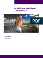 POV - 7 Steps to Building a Board Level Business Case