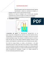 Electrolisis Del Agua- Laboratorio de electroquimica
