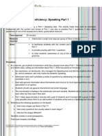Cambridge English Proficiency Speaking Part 1