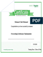 Mohamed Taleb Ecostruxure Training Cirtificate