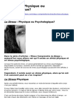 Le Stress Physique Ou Psychologique