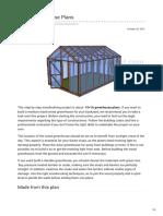 1016 Greenhouse Plans