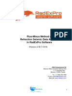Plus-Minus Method of Refraction Seismic Data Analysis in RadExPro Software