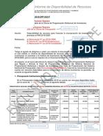 Modelo de Informe de Disponibilidad de Recursos