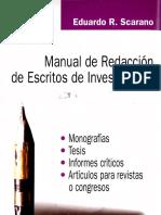 Scarano Manual Redacción Escritos Investigación