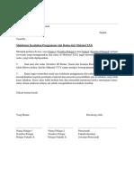 Surat Memaklumkan Kesalahan Kerosakan Alat Radas Makmal - Template