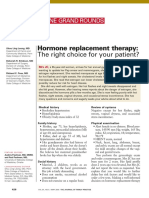 Hormone Replacement Therapy the Right Choice for Your Patient