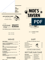 Nickel City's Moe's Tavern Menu