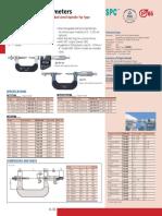 Mitutoyo Gear Tooth Micrometers Series 124 324