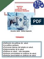 Clase - Bioetica y Politicas de Salud