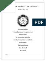 Sem IX. Competition Law. Diptimaan Kumar.Roll No 61.docx