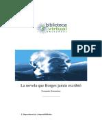 Novela Que Borges Jamas Escribio