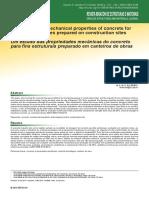 Um estudo das propriedades mecânicas do concreto para fins estruturais preparado em canteiros de obras