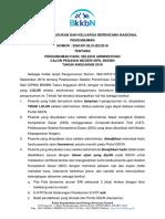 1. Pengumuman Hasil Seleksi Administrasi Cpns Bkkbn 2018