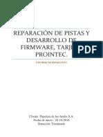 Informe de Reparacion Velocimetro