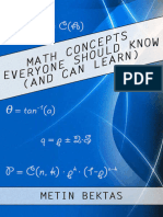 Math Concepts Everyone Should Know by Metin Bektas