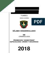 SILABUS CRIMINOLOGIA