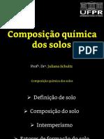 Composição Química Do Solo - Slides