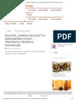 Rulouri ,,Cannoli Siciliani''Cu Mascarpone Și Nuci - Preferatul Desert Al Italienilor! - Retete-Usoare