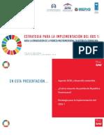 Estrategia ODS 1 Lanzamiento