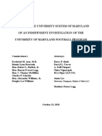 Report on the University of Maryland investigation