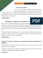 Satsang Notes 5-3-17