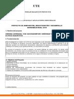 Modelo de Presentacion de Proyectos