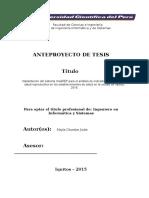 Avance 1 - Tesis 2015