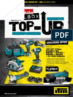 Makita ITM Toolbox Top-Up 2018 Catalogue