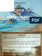 Ethics in Advertisement Baldeep Mann