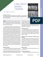 Diseño de Un Plan HACCP en El Procesamineto Industrial de Sardinas Congeladas