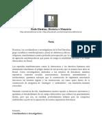 Nota - Rede DHM - Espanhol