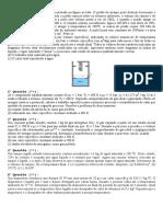 Exercícios de Preparação Sobre 1a Lei Da Termodinâmica