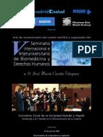 Homenaje a G.F. Handel (Real Academia de Jurisprudencia y Legislación) - 2009