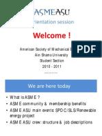 ASME ASU Orientation Session 7-10-2010