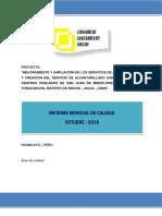 Informe Calidad Octubre