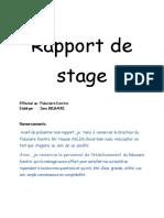 Rapport de Stage (Fudiciaire)