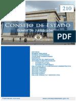 Boletín de Jurisprudencia Consejo de Estado - 210 - Septiembre 2018