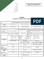 Cerere servicii consulare - Depunerea jurământului de credință față de România (1)