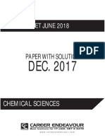 Dec. 2017 Chemical Sciences Paper With Solution