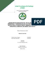 Anteproyecto Pedagogicos en El Proceso de Enseñanza y Aprendizaje en Los Niños Del Nivel Inicial en El Colegio Santa Teresita YAINDY LIRIANO (1)