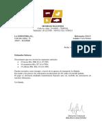 Trabajo comunicacion 1º administracion y finanzas  Carta