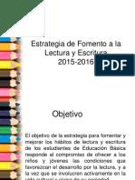 Estrategia de Fomento a La Lectura y Escritura Telesecundarias 15-16