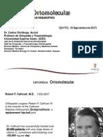 Medicina Ortomolecular. Dr. Chiriboga