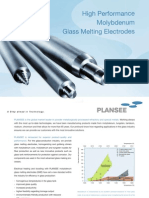 Molybdenum Glass Melting Electrodes