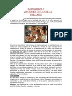 Costumbres y Tradiciones de La Selva Peruana
