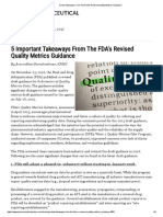 5 Key Takeaways From the FDAs Revised Quality Metrics Guidance