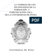 Política y Normas de Uso de Las TICs UDEP