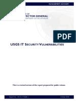 DOI IG Report on USGS IT Security Vulnerabilities