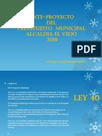 Cabildo Ante Proyecto 2019. Alcaldía de El Viejo-Chinandega.